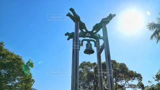 風景,空,太陽,青,光,観光,旅行,日本,平和,鐘,歴史,長崎,原爆,平和公園,原爆資料館,平和の鐘