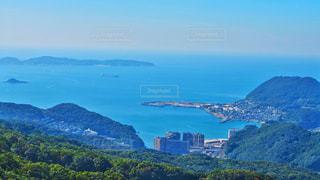 自然,風景,海,空,絶景,屋外,世界の絶景,青,水,水面,水色,景色,観光,旅行,歴史,長崎,稲佐山