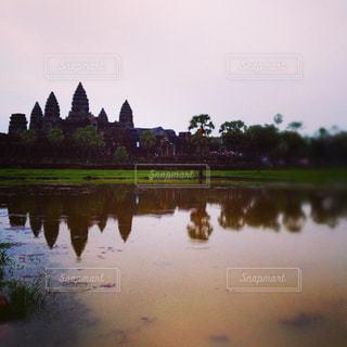 カンボジアのアンコールワットの写真・画像素材[919926]
