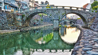 眼鏡橋の写真・画像素材[1016751]