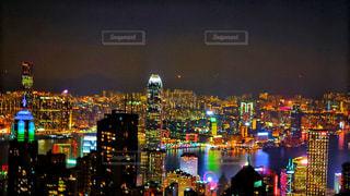 ビクトリアピークの夜景の写真・画像素材[1681846]