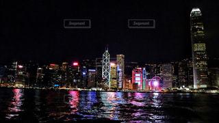 海,夜景,海外,晴れ,船,ネオン,アジア,景色,都会,外,旅行,旅,フェリー,香港,海外旅行,スターフェリー,東アジア