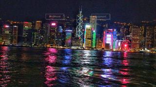 海,夜,夜景,海外,晴れ,船,ネオン,アジア,景色,都会,外,旅行,旅,フェリー,香港,海外旅行,スターフェリー,東アジア