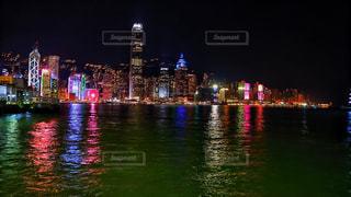 海,夜,夜景,海外,晴れ,船,ネオン,アジア,景色,都会,旅行,旅,フェリー,香港,海外旅行,スターフェリー,東アジア