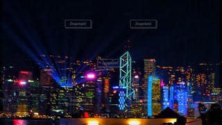 海,夜景,海外,晴れ,ネオン,アジア,景色,光,都会,外,旅行,旅,イベント,香港,海外旅行,シンフォニーオブライツ,東アジア
