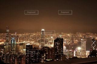 空,建物,夜景,屋外,海外,晴れ,ネオン,アジア,景色,光,都会,外,旅行,旅,イベント,香港,明るい,海外旅行,世界,世界三大夜景