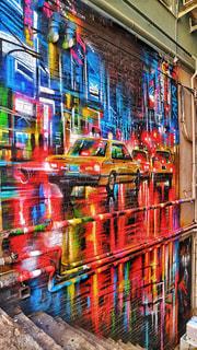 建物,夜景,屋外,海外,晴れ,アート,アジア,景色,光,都会,外,壁,旅行,旅,香港,明るい,海外旅行,世界,壁画
