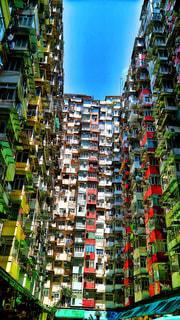 香港のモンスターマンションの写真・画像素材[1821359]