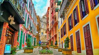 空,公園,街角,海外,カラフル,黄色,アジア,街,観光,壁,旅行,幸せ,明るい,マカオ,海外旅行,ミラーレス,ライフスタイル,ミラーレスカメラ