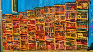 香港のSOHO地区のお洒落な壁の写真・画像素材[2234162]