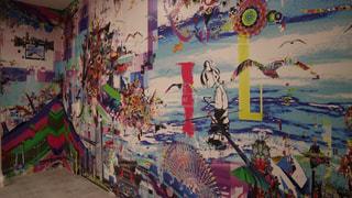 横浜のアソビルのお洒落な壁の写真・画像素材[2234201]
