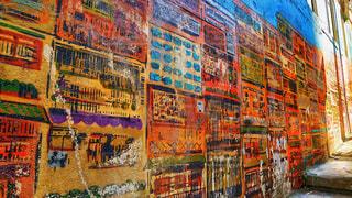 香港のSOHO地区のお洒落な壁の写真・画像素材[2234258]