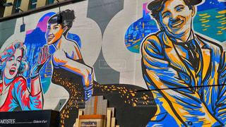 香港のSOHO地区のお洒落な壁の写真・画像素材[2234290]