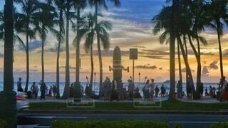 自然,風景,海,空,夕日,屋外,湖,太陽,朝日,ビーチ,雲,夕暮れ,水面,海岸,光,正月,ヤシの木,お正月,ハワイ,夕陽,日の出,新年,初日の出,草木,パーム,クラウド