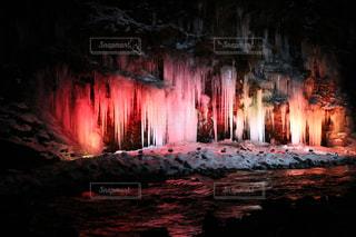 冬,ライトアップ,寒い,つらら,氷柱,三十槌の滝