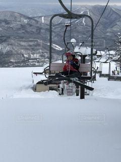 冬,雪,一人,スキー,寒い,リフト