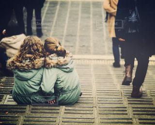 冬,海外,階段,兄弟,姉妹,ツーショット