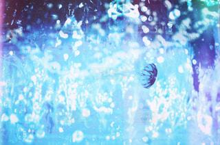 雨の中で立っている人のグループの写真・画像素材[930454]