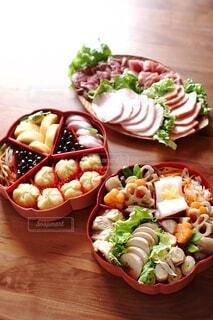 桜お重のおせち料理の写真・画像素材[4067747]