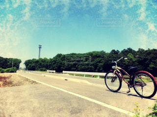 自転車,青空,サイクリング