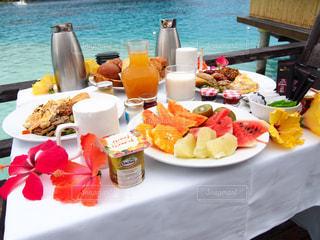 海,ビーチ,旅行,breakfast,ボラボラ島,タヒチ,新婚旅行,朝ご飯