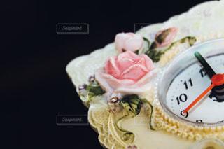 ピンク,かわいい,黒,バラ,時計,薔薇,シンプル