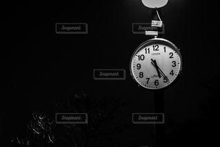 公園,夜,静寂,モノクロ,時計,モノクローム