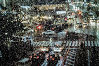 通りのぼやけた画像の写真・画像素材[1089156]