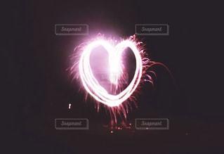 空に花火の写真・画像素材[1112072]