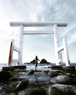 海,観光地,夫婦岩,糸島,二見ヶ浦,photo