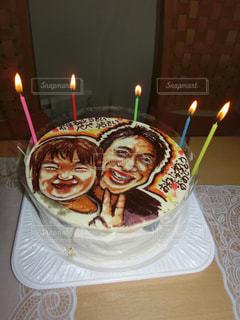 ケーキ,誕生日,似顔絵ケーキ