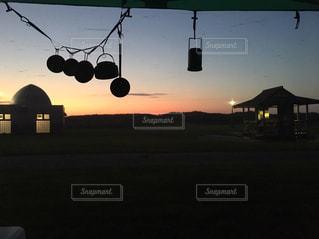 風景,空,太陽,夕暮れ,光,キャンプ