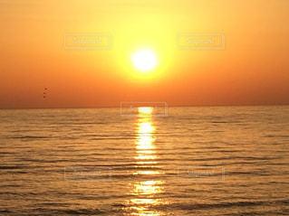 風景,海,空,太陽,夕暮れ,光,夕陽