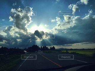 空,青空,ハート,雨上がり