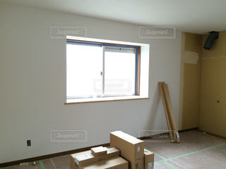 白い壁,窓辺,引っ越し,新居,建築中