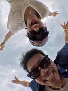 夫婦で空飛んでる風。の写真・画像素材[1624107]