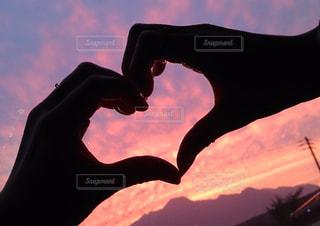 ピンクのサンセットの写真・画像素材[2271123]