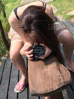 カメラ女子の写真・画像素材[2282212]