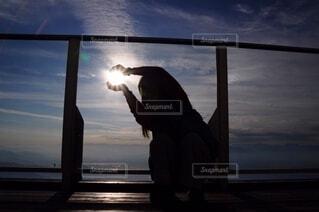 太陽つかまえた!の写真・画像素材[3683020]