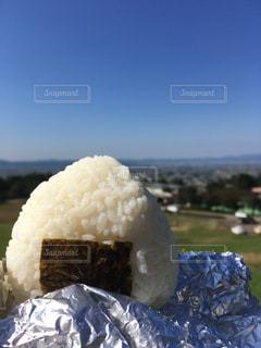 晴れ,丘,おにぎり,素朴,美味,塩むすび,愛むすび