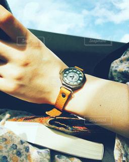 空,時計,blue,yellow,classic