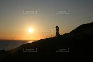 女性,シルエット,夕陽,千葉,canon6d,タムロン