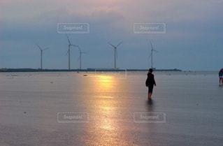 アジアのウユニ塩湖!高美湿地の写真・画像素材[929703]