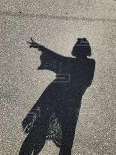 影のわたしの写真・画像素材[742916]