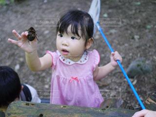 女の子,虫取り,夏休み,2歳,家族旅行,お出かけ,カブトムシ,初体験