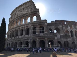 大規模な石造りの建物の写真・画像素材[796933]