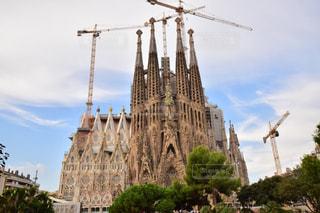 大きな建物の表示の写真・画像素材[808766]