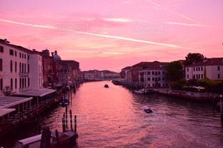空,夕日,ヴェネツィア