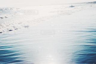 雪の中に立っている人の写真・画像素材[1242203]