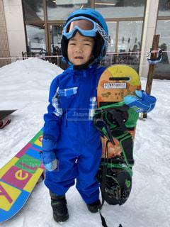 子ども,アウトドア,スポーツ,雪,人物,ゲレンデ,ドヤ顔,レジャー,スノーボード